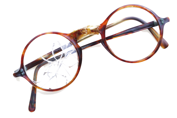 Picture of broken glasses